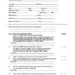 MEDICAL HISTORY FORM. SAMPLE ONLY